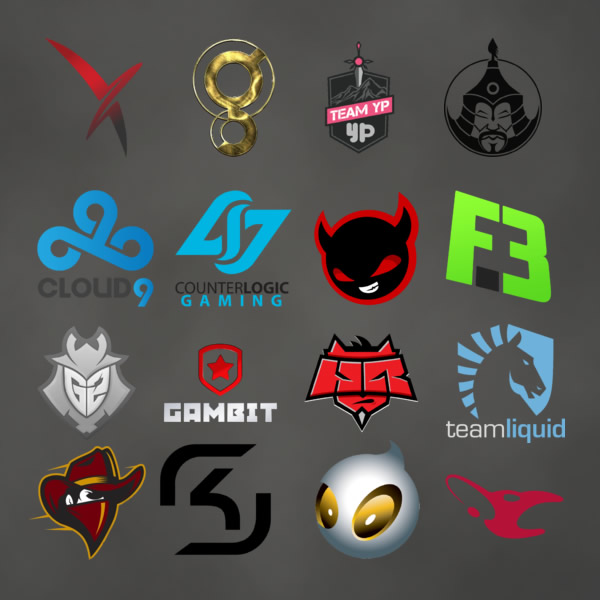 Los 16 equipos participantes de la clasificatoria del MLG Columbus 2016.