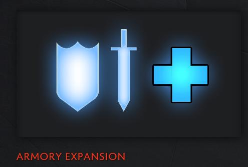 La armeria fue expandida de 1080 a 10000 slots para articulos del juego