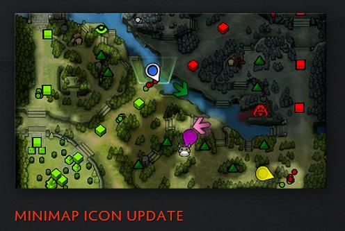 Para indicar mejor en que direccion de un enemigo, se reemplazó la clasica X del mapa y fueron cambiadas por flechas.
